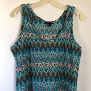 H&M poly-metallic sleeveless top